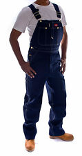 Dickies - Mens Denim Dungarees - Dark Blue Indigo Overalls