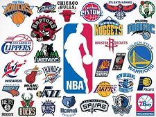 3 Pack Officially Licensed NBA Logo Stickers - Pick Your Favorite Team!