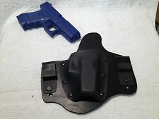 MTO Glock 36 IWB holster Kydex and leather conceal CCW Hybrid