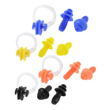 Soft Silicone Swimming Guard Tool Nose Clip Earplugs Set