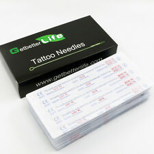 Pro New 50 TATTOO NEEDLES U-Pick Mix Assorted Sizes sterile Disposable RS RL