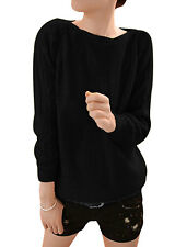Women Raglan Sleeve Round Neck Fashion Cable Knit Sweater