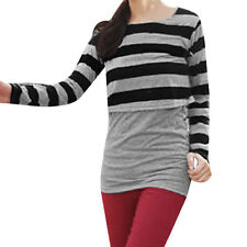 Long Sleeves Scoop Neck Casual Autumn Tunic Shirt for Ladies