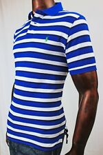 POLO Ralph Lauren Mesh Custom Fit Polo Blue And White Stripe ~NWT~