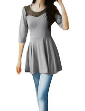 Ladies Scoop Neck Stretchy Autumn Pullover Tunic Shirt