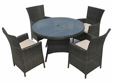Rattan Garden Set Rectangle Dining Table and Chair Outdoor Furniture