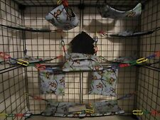 15 pc Bedding - Sugar Glider Cage Set - Rat toys - Tropical monkey