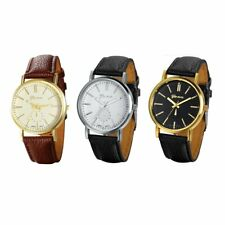 Fashion Luxury Men's Women's Quartz Analog Dial Sport Wrist Watch Leather Strap