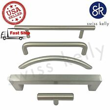 Swiss Kelly Kitchen Cabinet Drawer Door Satin Nickel Handle Cup Pull Knob
