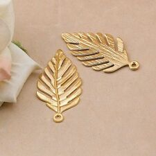 P1083 Wholesale Leaf Tibetan Silver jewelr accessories DIY Pendant 5-20pcs