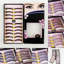 10 Pairs Fake Natural Long False Eyelashes Makeup Eye Handmade Lash Lashes 007u