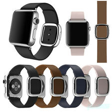 Modern Buckle Granada Genuine Leather Band Bracelet Strap For Apple Watch 38/42