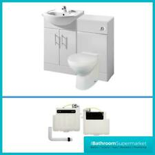 Bathroom Furniture Suite Vanity Unit Cabinet Toilet Basin Back To Wall Cloakroom
