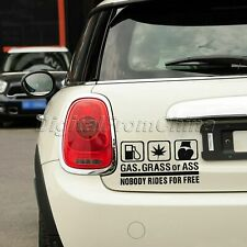 GAS,GRASS OR ASS NOBODY RIDES FOR FREE Reflective Auto Car Window Stickers Decal