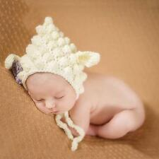 Newborn Baby Infant Handmade Knitted Crochet Hat Photo Photography Animal Caps