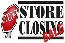 """Store Closing Sale Stop Sign Advertising Banner Sign 24""""X 36"""" Vinyl Busines"""