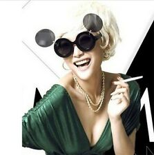 Lady Gaga Girl's Retro Mickey Mouse Flip Up Round Double Lens Sunglasses Shades