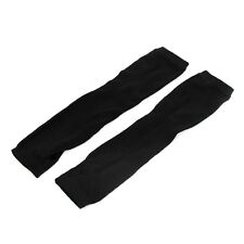 Woman Elastic Fingerless Elbow Length Arm Hand Warmers Gloves 2 Pairs
