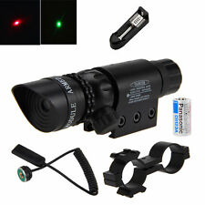 Adjustable Tactical Green/Red Laser Sight Dot Scope Lamp Hunting Rifle w/Mount
