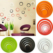 1 Set Color Home Decorations Circles Creative Stereo Removable Wall Stickers