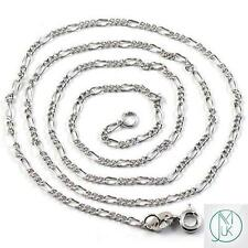Solid Sterling Silver 925 Figaro Chain 1.5mm 18-22'' Necklace Jewellery Making