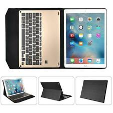 For iPad Pro 12.9inch Ultra Aluminum Bluetooth Keyboard PU Leather Case Cover