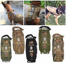 TACTICAL DOG VEST HARNESS K9 MOLLE HUNTING TRAINING MILITARY ARMY VELCRO PATCH