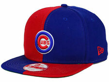 """Chicago Cubs New Era """"MLB Double Splitem 9FIFTY Snapbac Cap""""  Blue/Red EXCLUSIVE"""