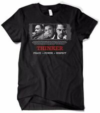 Thinker (Malcolm X, Barack Obama and Martin Luther King) Black History T-Shirt