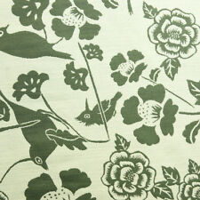 Tan And Green Birds   | 54 Inch | Upholstery / Drapery Fabric