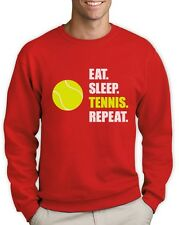 Eat Sleep Tennis Repeat - Tennis Player Gift Sports Sweatshirt Novelty Present