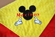 PERSONALIZED BABY BLANKET Mouse baby shower gift baby boy Plush & Soft Minky