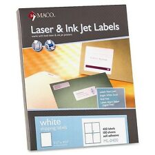 "New ! MACO White 5 1/2"" x 4 1/4"" Shipping Label ML-0400 MACML0400"