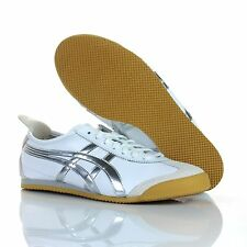 NEW ASICS ONITSUKA TIGER MEXICO 66 Shoes WHITE METAL SILVER HL5B0-0115 Sneakers