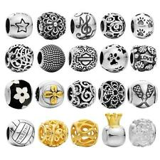 Authentic 925 Sterling Silver Charm Beads Fit European Bracelet DIY Jewelry C3M0