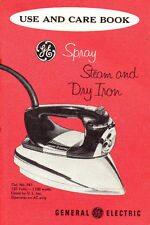 General Electric / GE Spray Steam & Dry Iron :  Use and Care book - ca. 1960s