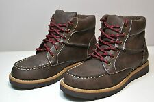 NWT BOYS YOUTH KENNETH COLE REACTION TAKE SQUARE DARK BROWN BOOTS SHOES SZ 2Y-6Y