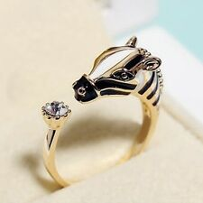 New Fashion Horse Zebra Head Ring Adjustable Index Finger Opening Ring  Jewelry