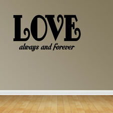 Wall Decal Quote Love Always and Forever Love Wall Sticker Decor