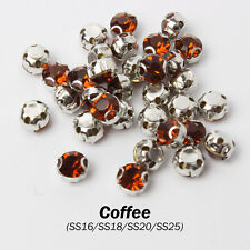 Coffee  Sew on claw Rhinestone SS16/SS18/SS20/SS30 Metals D claw use for Garment
