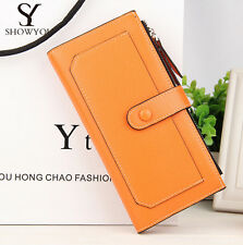 Leather Women Wallet Baellerry Long Hasp Zipper Bifold Purse Billfold Handbag