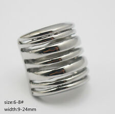 Unique Rings Punk Silver Metal Ring Knuckle Finger Ring for Women Girls Jewelry