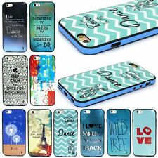 New 2 in 1 Hybrid Pattern Soft TPU Skin Back+PC Frame Case Cover For Cell Phone