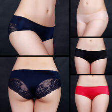 Women Briefs Underwear Panties Low Rise Underpants Sexy Lace Lingerie Bottoms DW