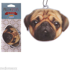 NEW PEACH SCENTED PUG FRAGRANCE NOVELTY HANGING AIR FRESHENER CAR HOME OFFICE