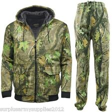 MENS HUNTING CAMOUFLAGE TRACKSUIT BOMBER JACKET JOGGERS COUNTRY CAMO STORMKLOTH