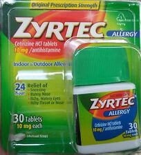 Zyrtec 24 Hour Allergy Tablets 10 mg, 30 ct  -Newest-