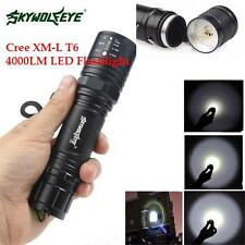 High Power 5 Modes 4000LM CREE XM-L T6 LED Flashlight Torch Zoomable Lamp Light