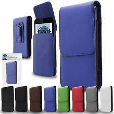 Premium Leather Vertical Pouch Holster Case Clip For Motorola MOTO XT882