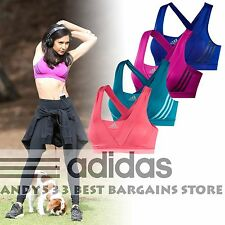 Adidas Performance Supernova High Support Sports Bra Padded Women Racer Crop Top